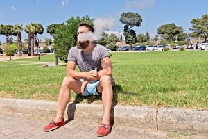 smoking nicotine salt